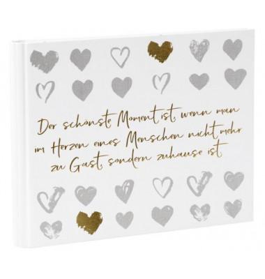 Gästebuch Hochzeit Love Memories - 29 x 23 cm, 50 Seiten, Spiralbindung
