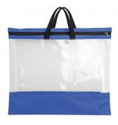Reißverschlusstasche - A3, PVC, blau