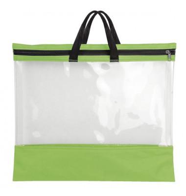 Reißverschlusstasche - A3, PVC, grün