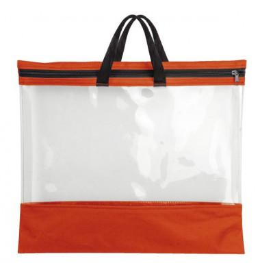 Reißverschlusstasche - A3, PVC, rot