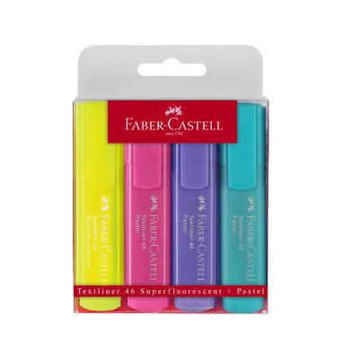 Textmarker 1546 Textliner 4er Etui pastell farbig sortiert 1-5mm Keilspitze