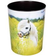 Papierkorb - 13 L, Pferd im Rapsfeld