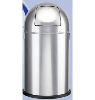 Abfallsammler 20 Liter verzinkt silber