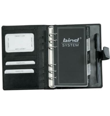 bind Zeitplaner T 1-1 DIN A6 ohne Kalender Leder schwarz