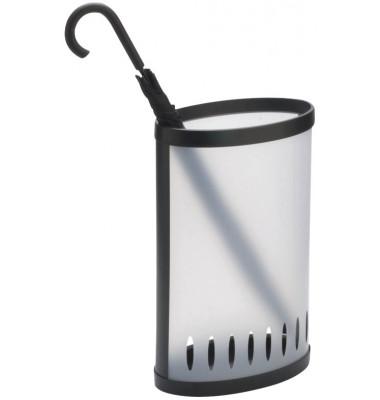 Schirmständer PMKIT, Kunststoff, oval, schwarz, transparent