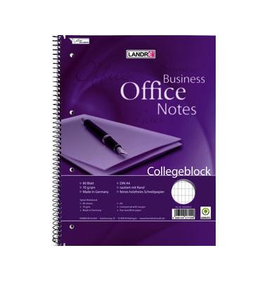 Collegeblock Business Office Notes 100050245, A4+ rautiert, 70g 80 Blatt, 4-fach-Lochung
