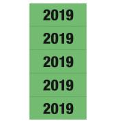 Jahreszahlen 2019 grün 60x26mm selbstklebend 100 Stück