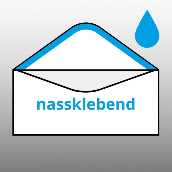 Posthorn Briefumschlag 3000 Din Lang Mit Fenster Nassklebend 80g Weiß
