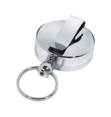 Gürtelclip m.Schlüsselkette silber Metall