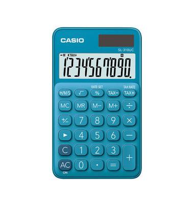 Casio Taschenrechner SL-310UC Blau LC-Display Display (Stellen): 10 Schutzhülle