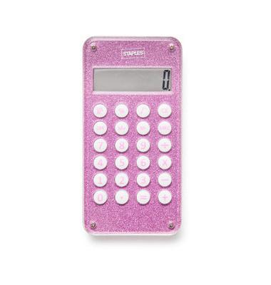 Maze Taschenrechner Glitter pink 8stellig