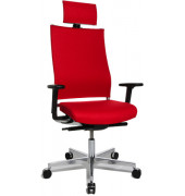 Bürodrehstuhl T400 Objekt m.Kopfst rot inkl.AL