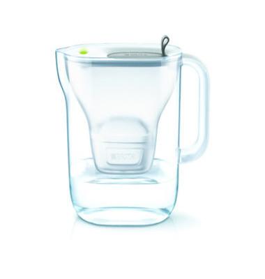 Wasserfilter, Style, Gefiltertes Wasser: 1,4 l, Gesamt: 2,4 l, grau