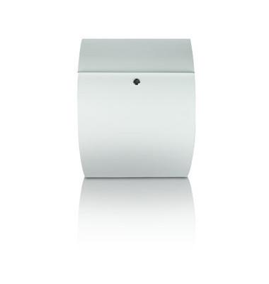 Briefkasten Riviera, Stahl, Einwurfgröße: C4, 335 x 130 x 460 mm, weiß