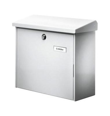 Briefkasten Comfort, Stahl, mit Beleuchtung, Einwurfgröße: C4, silber