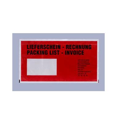 """Lieferscheintaschen Debapac Din Lang """"LIEFERSCHEIN - RECHNUNG"""" selbstklebend 1000 Stück 622V0003008"""