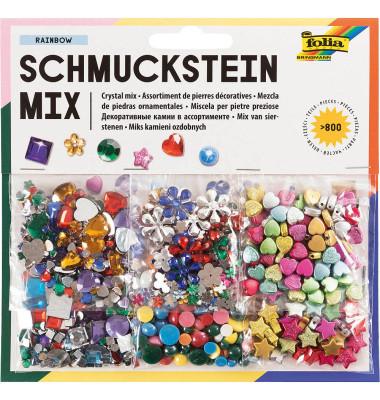 Schmucksteine, über 800 Teile sortiert 185X189X130