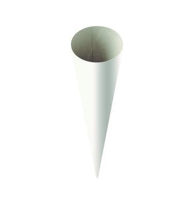 Schultüte Rohling weiß 70cm rund 20-4870070