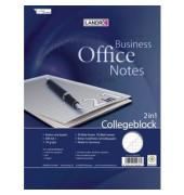 Collegeblock Office 100302810, A4+ liniert + kariert, 70g 30 Blatt liniert + 50 Blatt kariert, 4-fach-Lochung