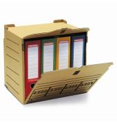 Archivbox, XL, für 4 Ordner, Klettverschl., A4, 36x31x34cm, natur