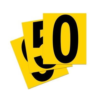 Beschriftungsetiketten 0-9 gelb 140x230mm 10 St