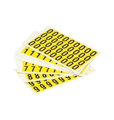 Beschriftungsetiketten 0-9 gelb 14x19mm 10 St