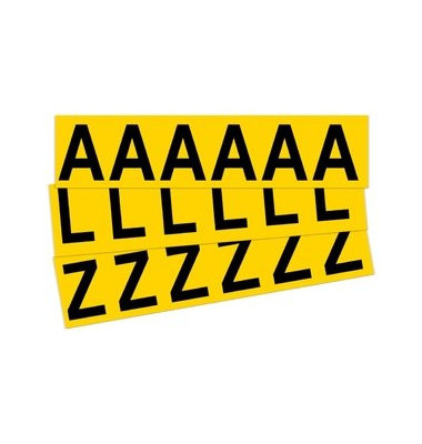 Beschriftungsetiketten A-Z gelb 38x90mm 26 St