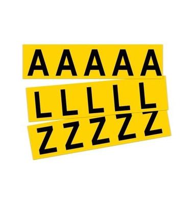 Beschriftungsetiketten A-Z gelb 45x130mm 26 St