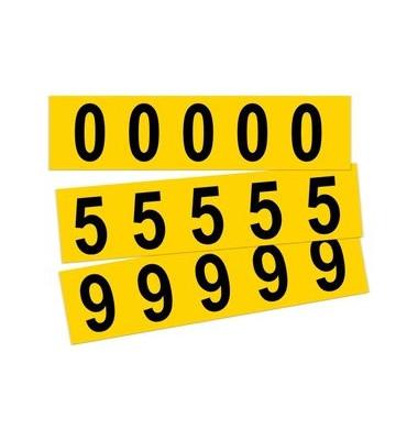 Beschriftungsetiketten 0-9 gelb 45x130mm 10 St