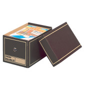Archivbox, Wellpappe, mit Deckel, A5, braun