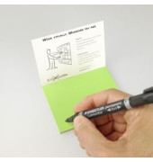 Folien-Haftnotizen PP Gr. S grün 10x7cm 95 Blatt