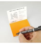 Folien-Haftnotizen PP Gr. S orange 10x7cm 95 Blatt