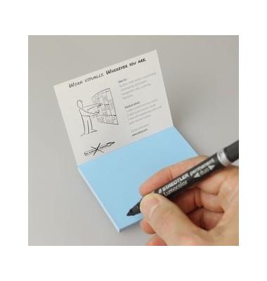 Folien-Haftnotizen PP Gr. S blau 10x7cm 95 Blatt