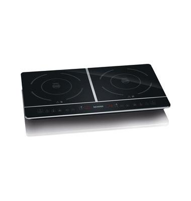 Kochtafel DK 1031, Induktion, 2 Platten, 3.400 W, schwarz