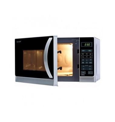 Mikrowellengerät R-642INW, mit Grill, 800 W, 20 l, silbermetallic