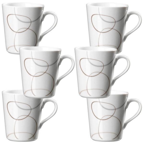 FliRt by R&B Kaffeebecher Alina weiß 6-teilig
