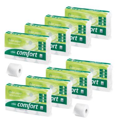 Toilettenpapier 060748 Comfort 2-lagig 64 Rollen