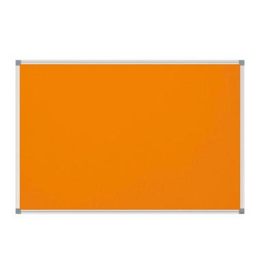 Pinnwand Standard 6444243, 120x90cm, Filz, Aluminiumrahmen, orange