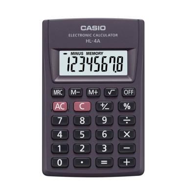 Casio Taschenrechner HL-4A Casio HL-4A Anthrazit