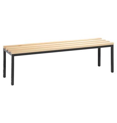 Garderobenbank Basic 8051-000, Holz, 150cm, freistehend, buche/anthrazit