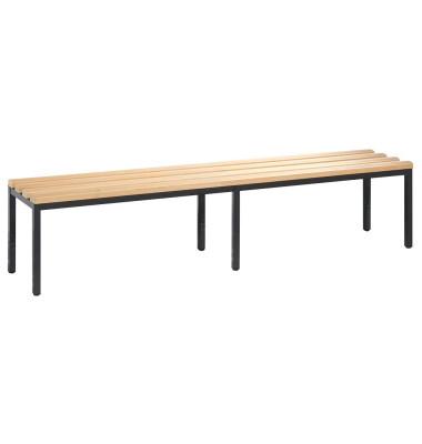 Garderobenbank Basic 8052-000, Holz, 196cm, freistehend, buche/anthrazit