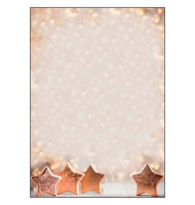 sigel Weihnachtsbriefpapier Copper Glance A4 90 g/qm