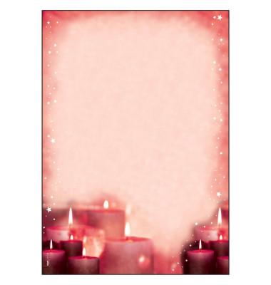 sigel Weihnachtsbriefpapier Red Candlelight A4 90 g/qm