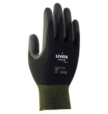 uvex Arbeitshandschuhe Unipur 6639 schwarz Größe 8