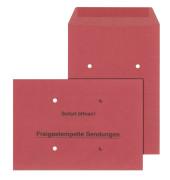 Freistempler B4 ohne Fenster nassklebend 4 Löcher 90g rot 250 Stück 30019176