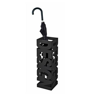 Schirmständer 26525, Metall, eckig, schwarz