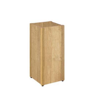 Schirmständer 13322, Holz, eckig, eiche