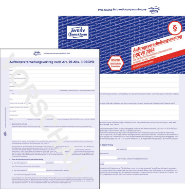 AVERY Zweckform Formulare 2864 Auftragsverarbeitungsvertrag