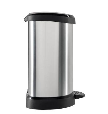 curver DECOBIN Mülleimer 20,0 l silbermetallic