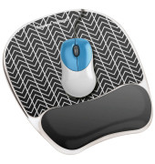 Mousepad mit Handgelenkauflage Photo Gel Zick-Zack